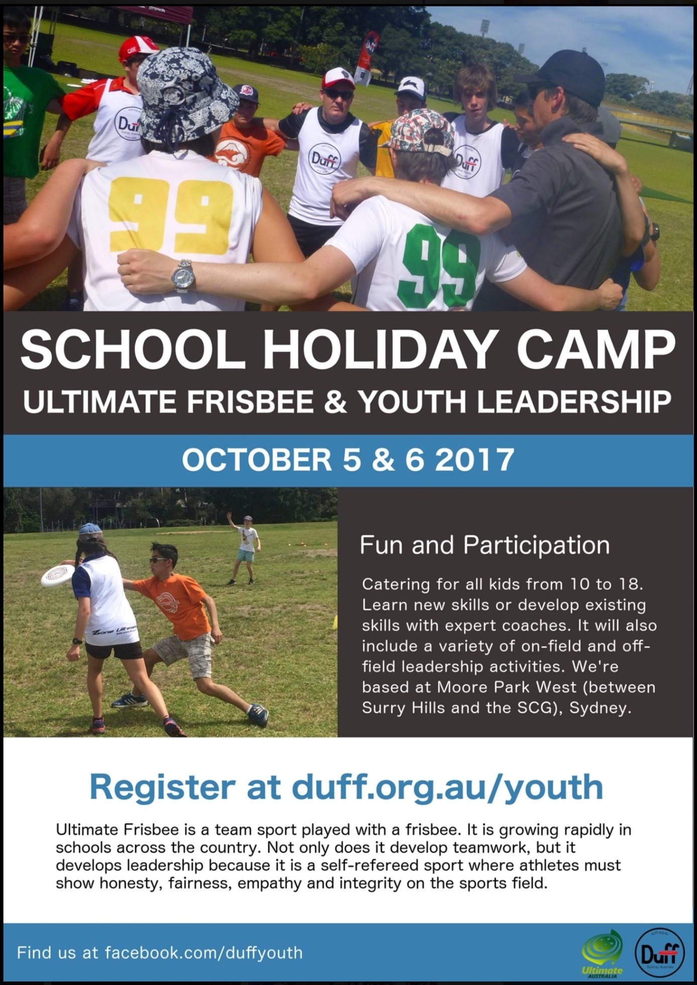 Youth - Darlinghurst Ultimate Frisbee Federation