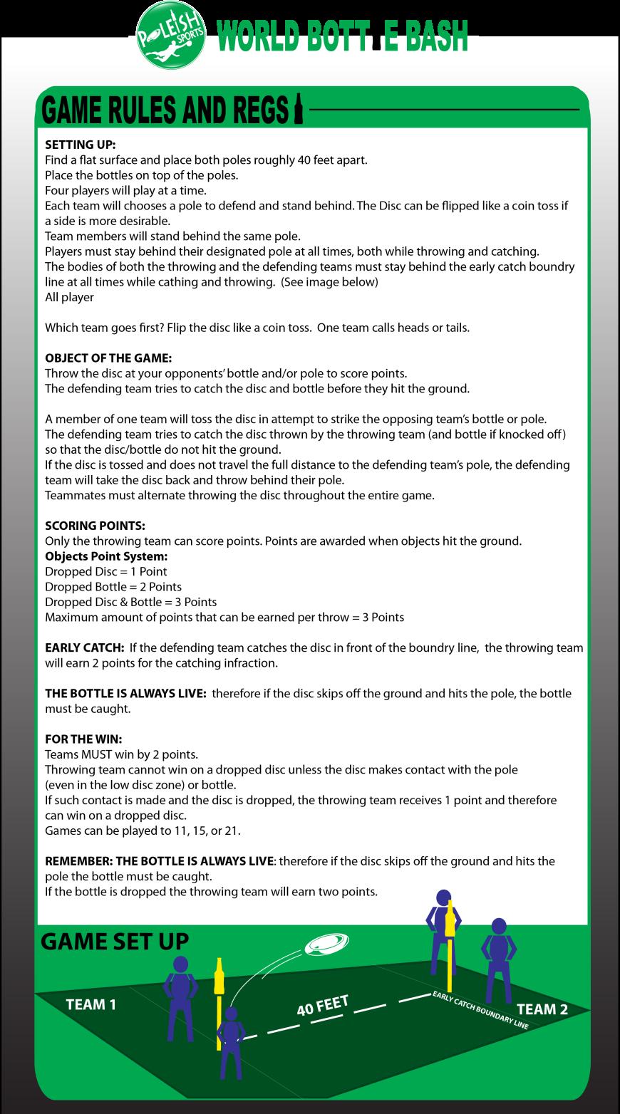 Bottle Bash Official Game Rules