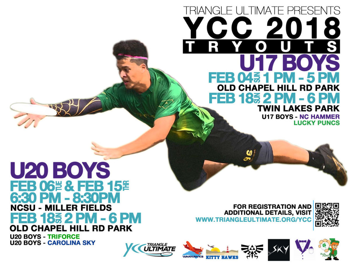 2018 YCC Tryout Times  Check for Updates/Changes! - Triangle
