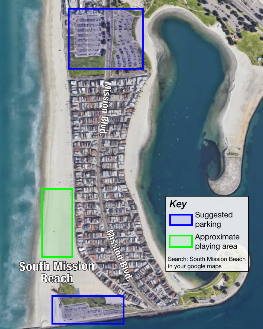 pacific beach ca map South Mission Beach San Diego Ca Legacy Ultimate Frisbee pacific beach ca map