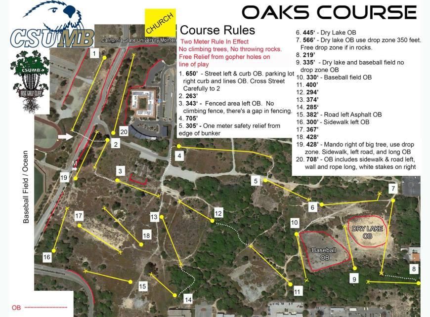 Csu Monterey Bay Campus Map.Course Maps Csumb Disc Golf