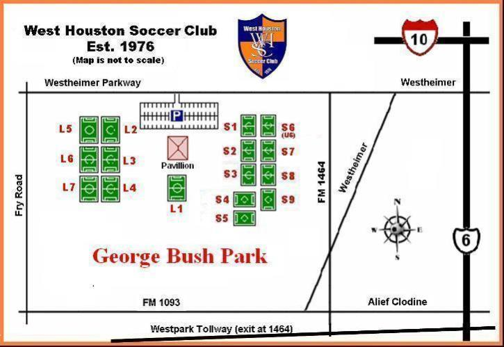 George Bush Park Map George bush park   Tulsa Ultimate Federation