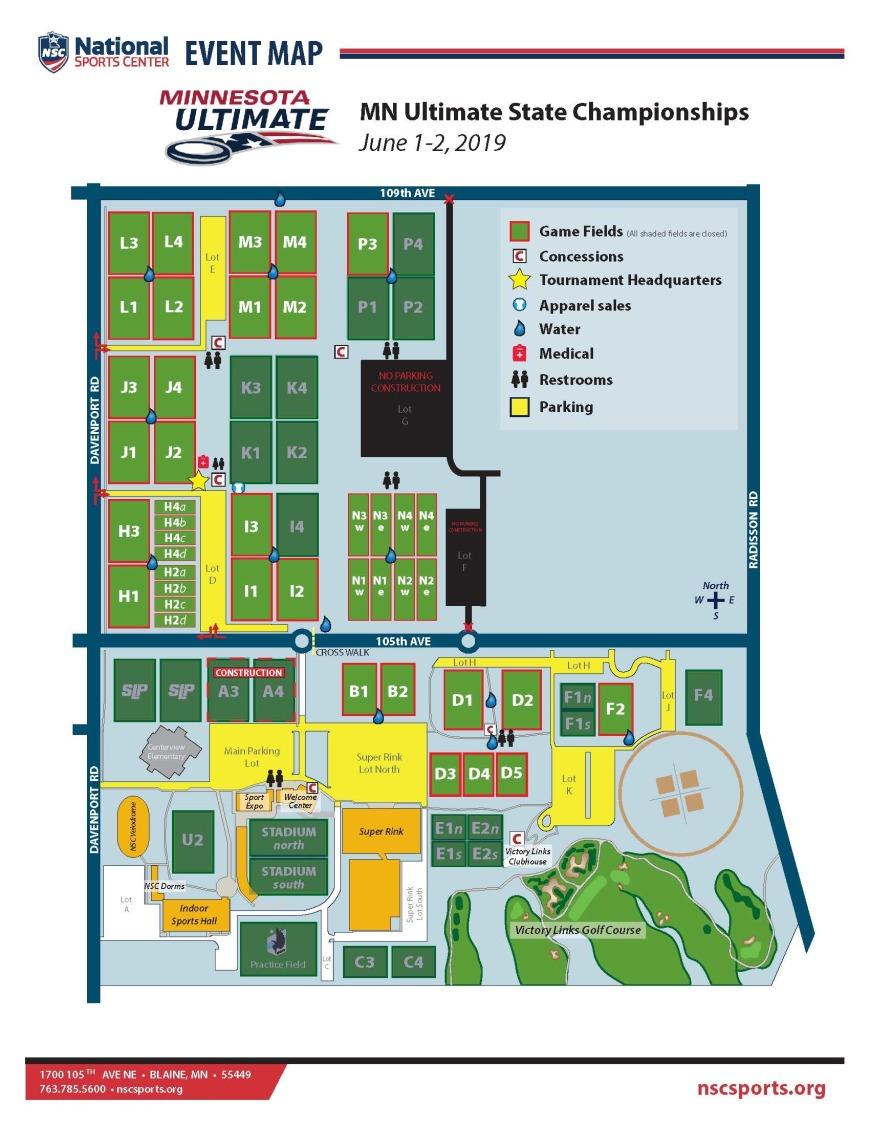 National Sports Center Field Map National sports center   Minnesota Ultimate