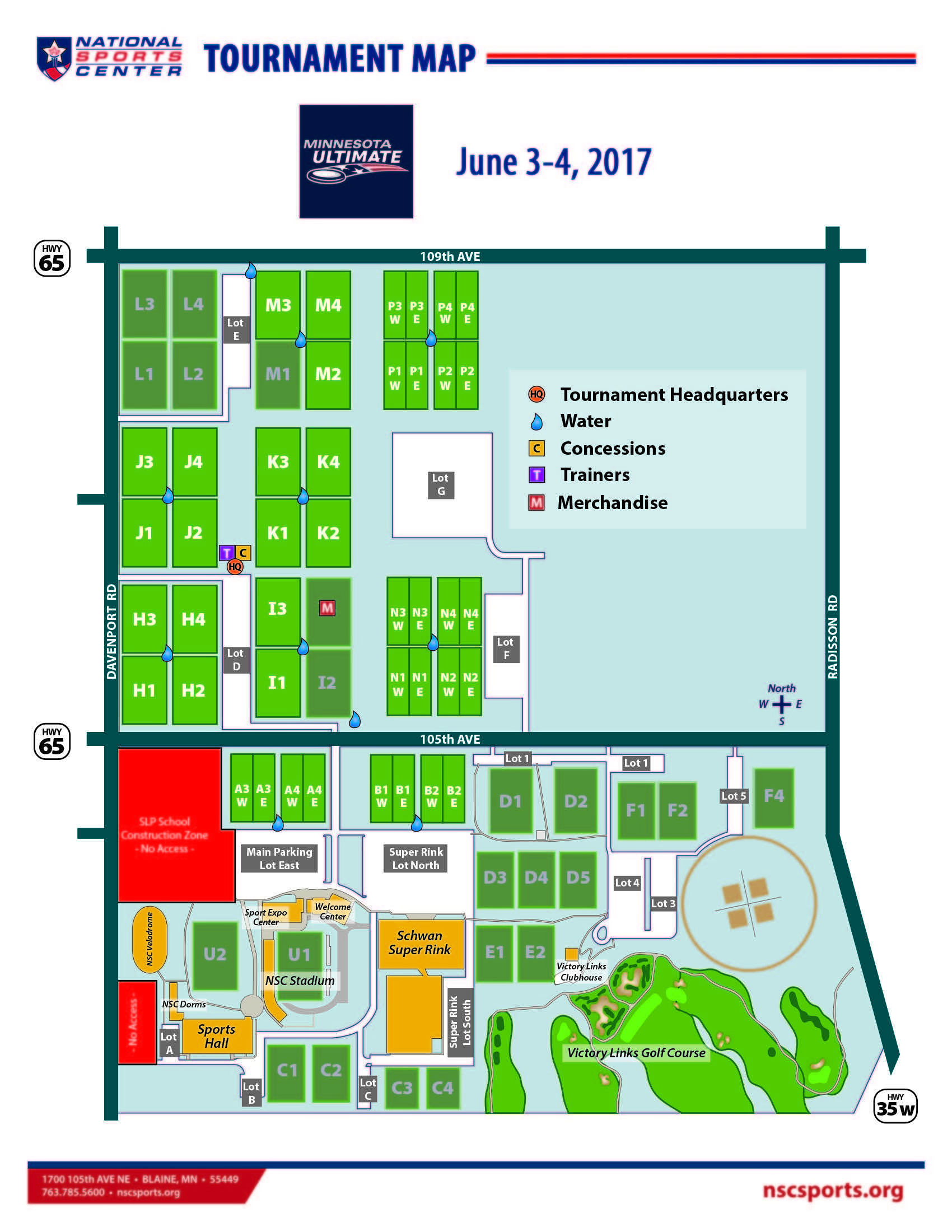 National Sports Center Field Map National sports center   Minnesota Ultimate