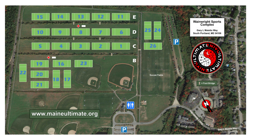 Wainwright Sports Complex 1 Maine Ultimate